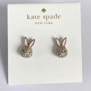 kate spade Jewelry - Kate Spade Silver Diamond Cute Rabbit Stud Earring